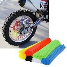 72 Pcs Universal Wheel Spoke Wrap Skins Trim Cover Pipe Motorcycle Dirt Pit Bike