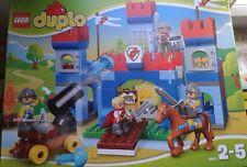 LEGO DUPLO-10577-LE GRAND CHATEAU ROYAL AVEC SES CHEVALIERS-2/5ANS-SUPERBE NEUF