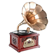 PTCDCS3UIP Classical Horn Turntable/Phonograph AM FM CD/Cassette USB Recording