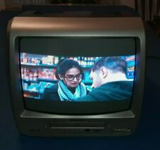 "Magnavox 13"" CRT Color TV With DVD Player Combo Retro Gaming Works Excellent"