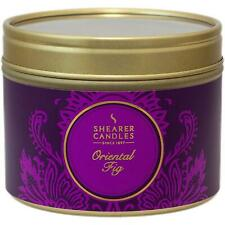 Shearer Candles Home, Oriental Fig, Small, Scented, Tin Candle - 20 Hour - 47mm