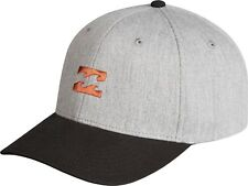 BILLABONG MENS BASEBALL CAP.EMBLEM SNAPBACK GREY COTTON CURVED PEAK HAT 8W 1 9