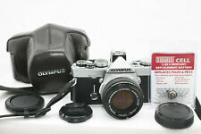 Olympus OM-1n Camera with 50mm f1.8 lens and Case - New Light Seals
