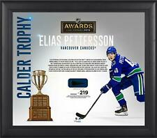 Elias Pettersson Canucks Frmd 15x17 2019 Calder Trophy Collage & Piece of Puck