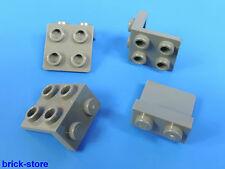 LEGO nr-6048854/1x2-2x2 angolo Piastra Grigio Scuro / 4 pezzi