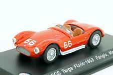 Nice 1/43 Maserati A6GCS Targa Florio Juan Fangio Whitebox  Bomporto Italia