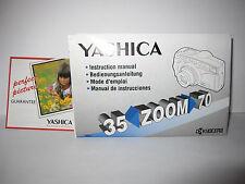 Vintage Yashica 35 Zoom 70 Kyocera Instruction Manual