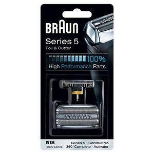Braun Kombipack 51s 51S 510/530/550/560/570/590/8915/8970/8975/8985/8990/8995