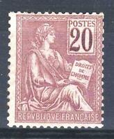 """FRANCE STAMP TIMBRE N° 113 """" TYPE MOUCHON 20c BRUN-LILAS """" NEUF xx TTB  P445"""