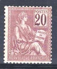 "FRANCE STAMP TIMBRE N° 113 "" TYPE MOUCHON 20c BRUN-LILAS "" NEUF xx TTB  P445"