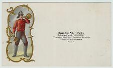 RARE Fireman's Advertising Salesman's Sample / Embossed Trade Card ca 1890