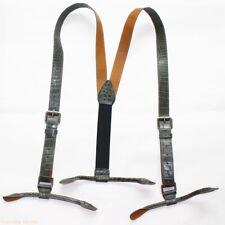 Y Shape Suspenders Braces Elasticated Adjustable Crocodile Leather Button Holes