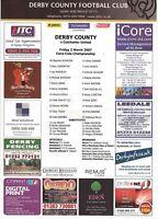 Teamsheet - Derby County v Colchester United 2006/7