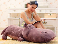 "47"" Huge Hippo Throw Pillow Pets Stuffed Plush Soft Toys Doll gift"