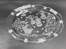 """Mikasa Holiday Lights Christmas Sweet Dish 9"""" Oval Plate with Angels"""