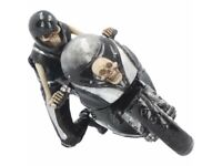SPEED REAPER 19cm Nemesis Now James Ryman Skeleton Ornament Gothic Bike FREE P+P