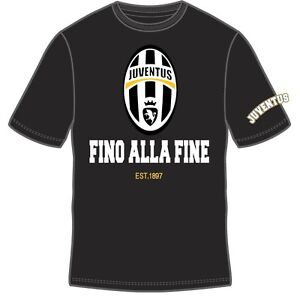 OFFICIALLY LICENSED JUVENTUS BLACK YOUTH 100% COTTON T-SHIRT SM-XL TEAM CREST