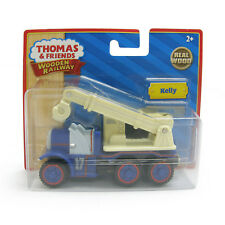 THOMAS THE TANK & FRIENDS-WOOD KELLY THE CRANE - YELLOW LABEL 2011 *NEW IN BOX*
