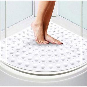 Corner Shower Bath Bathtub Mat sector Non Slip Quadrant 54x54cm Anti-Bacterial
