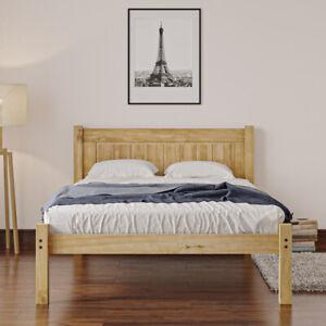 Wooden Bed Frame 3ft Single 4ft 4ft6 Double Low End Solid Pine Bedroom Furniture