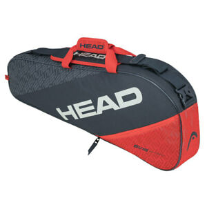 HEAD Elite 3R Pro 75cm Grey/Orange Sports Carry Tennis Bag for Racquet/Racket