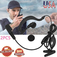 2X Headset/Earpiece Baofeng Radio Security 2Pin Walkie Talkie Headphone Ear Clip