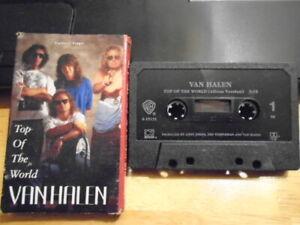RARE OOP Van Halen CASSETTE TAPE Top of the World + Poundcake EDDIE Sammy Hagar