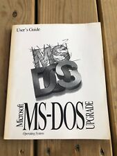 User's Guide Microsoft Ms-Dos Operating System Upgrade 6.22