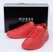 New Men's GUESS Los Angeles Batrix Dark Red LL Quilted Low Top Sneakers Shoes 7