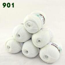 Sale Lot of 6 balls x 50g LACE Soft Acrylic Wool Cashmere hand knitting Yarn 901