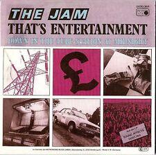 THE JAM - THAT'S ENTERTAINMENT 1981/2001 UK ENHANCED CD SINGLE REPLICA CARD SLEE