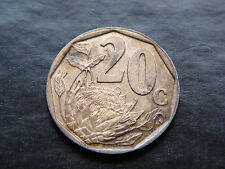 South Africa 20 Cents, 1996. Protea Flower