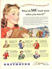 1948 Greyhound Lines Bus Great Artwork 'what you want' art Print Ad