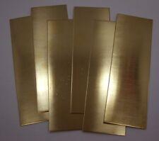 """Raw Brass Sheet, Bracelet Cuff Blanks 6"""" x 2"""" 16ga Package Of 6"""