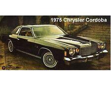 1975 Chrysler Cordoba  Car Auto Refrigerator / Tool Box Magnet