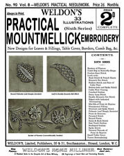 Weldon's 2D #90 c.1892 Vintage Mountmellick Embroidery Stitches (6th Book)
