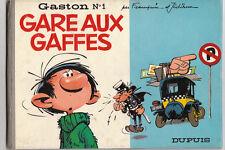 Gaston 1. Gare aux Gaffes. Dupuis 1966. FRANQUIN. Très bel état