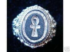 LOOK Ankh Egyptian Sterling Silver Ring Egypt Eternal Life