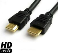 Gold Premium HDMI to HDMI High Speed Lead Cable 3D LCD HDTV Video Xbox 1080p