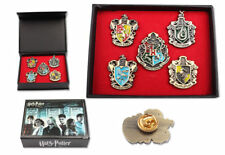 NEWEST Set of 5 pcs Harry Potter Hogwarts House Metal Pin Badge In Box Xmas Toys