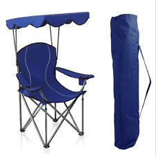 Foldable Beach Camping Chair With Canopy Shade Outdoor Folding Picnic Chair