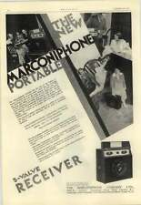 1928 The New Marconi Phone Portable Radio, 28 Guineas, Size Of A Suitcase