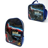 Official Marvel Iron Spiderman Lunch Box Insulated School Snack Bag Backpack