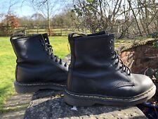 Dr Martens 1460 8 Doc Occhielli Nero Pelle Stivali UK 6 EU39 Made in England
