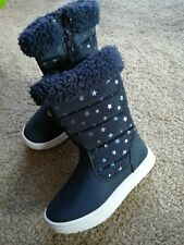 Girl Winter Boots infant 7 Navy New