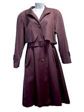 FOUR SEASONS Women's UK 10 Raincoat Trench Coat Vtg 90s Oversized Mac Overcoat
