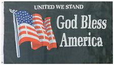 United We Stand God Bless America Premium 3x5 3'x5' Super Polyester Black Flag
