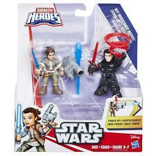 Playskool Galactic Heroes Star Wars Rey (Resistance Outfit) & Kylo Ren Unmasked