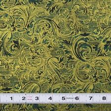 FUSIONS METALLIC - GREEN by Robert Kaufman - Patchwork Fabric by the 1/2 metre