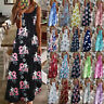 Womens Beach Floral Sundress Loose Maxi Sleeveless CAMI Ladies Long Slip Dress